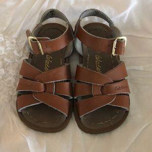 Brown Saltwater Sandals- size 6